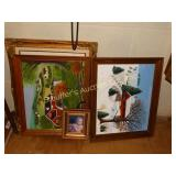 "Framed oil paintings largest 21 1/2"" x 25 1/2"""