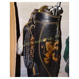Wilson golf bag w/6 clubs