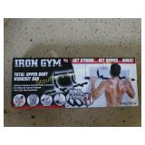 New Iron Gym upper body workout bar