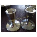 "Sterling 3"" candlesticks by Duchin creations"