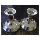 "Sterling 3"" candlesticks by Towle weighted"
