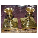 "3"" Brass candlesticks"