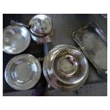 Trays, sugar bowl/server all plate