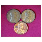 3 Pennies: 1945-S (wheat), 1960-D, 1963-D