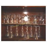 24pc glass stem ware