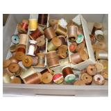 Asst. Wood Spools of Thread
