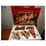 Musical Holiday Express Train Set in orig. box