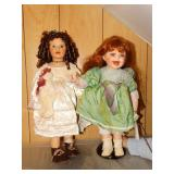 2 Porcelain Dolls w/tags - Duck House