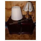 "2 End Tables 22""d x 16""w x 20""t , lamp 21""t ,"