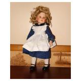 Porcelain Doll- marked 1986 Thelma Resch