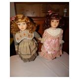 2 Ashley Belle Porcelain Dolls