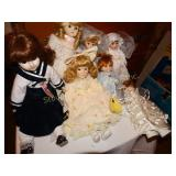 Asst. Porcelain Dolls some musical