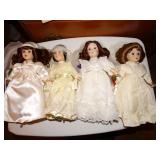 4 Danbury Mint Porcelain  Bride Dolls