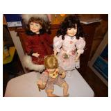 3 Wimbledon Collection Porcelain Dolls