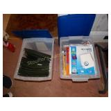 Writting Pads, hanging folders, sheet protectors,