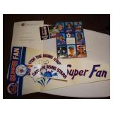 1985 NY Mets Super Fan Banner, player cards,