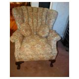 Side Chair w/matching throw pillows