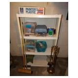 "Plastic shelf  14""d x 34""w x 56""t w/contents-"