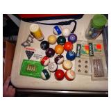 Vintage Billiard Balls, access. etc.