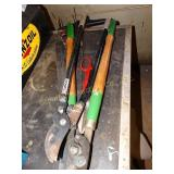 Loppers, tin snips, hand saws, etc.