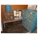 "Plastic organizer bins largest is 6 1/2""d x 14""w"