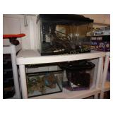 "3 Aquariums largest is 10""d x 20""w x 13""t"