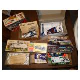 5 Plastic model car kits- 1969 Jeepster, BMW R69,