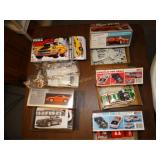 5 Plastic model car kits- Ertle Dodge, Stealth,