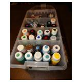 Asst. craft & model paints in plastic tote