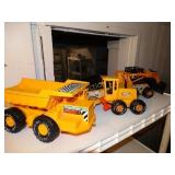 Nylint metal toy road scrapper, Skid loader,