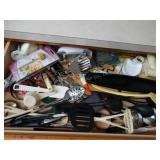 Contents of drawer, utensils, etc