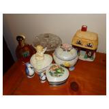 Trinket boxes, 1.7 oz bottle of Vanilla fields