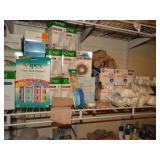2nd  shelf, medical supplies, cotton tipped
