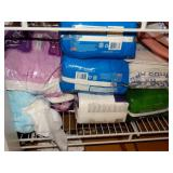 Bottom shelf, bed pads, femine products,