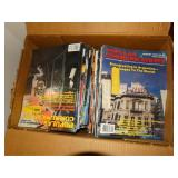 Box of Popular Communication magazines and box of