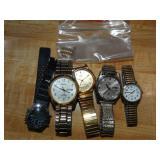 Assorted watches, Timex, Seiko, pulsar, Casio,