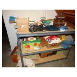 """Storage shelf 24"""" x 49"""" x 36"""" with contents, shop"""