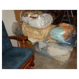 Linen lot, curtains, afghan, blankets, etc in