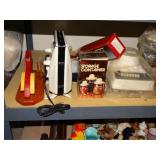 4th shelf contents, sandwich maker, plastic