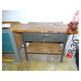 """Work table 23""""d x 46""""w x 34""""h and lakeside 4"""""""