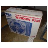 """Galaxy 16"""" 3 speed window fan in original box"""