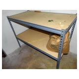 """Shelving Unit, 24"""" x 48"""" x 36"""" with contents"""