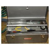 Metal craftsman tool box with contents