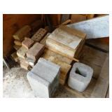 Cinder block, bricks, etc