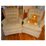 2 matching rocking chairs