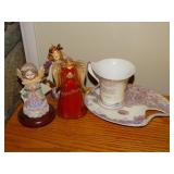 2 bells, little angel statue, special mother tea