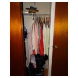 Contents of closet, clothes - assorted sizes,