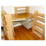 """Desk  29""""d x 40""""w x 29""""h with chair,3 shelving"""