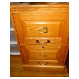 Winners Only 2 Drawer Oak file cabinet, no