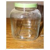 Vintage square glass jar